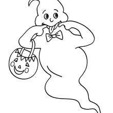 Dibujo para colorear : fantasma haciendo muecas
