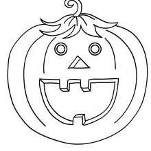 Dibujo para colorear : una calabaza lanterna de halloween
