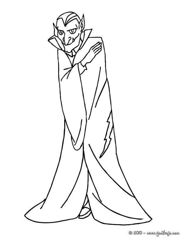 Dibujo Para Colorear   Vampiro De Halloween