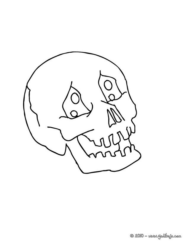 Para colorear calavera espantosa de halloween dibujos - Dibujos de halloween ...