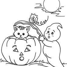 Dibujos para colorear perro fantasma   es.hellokids.com