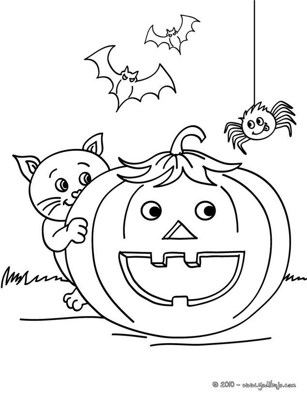 Dibujos de Calabaza para colorear   39 calabazas Jack O'Lantern de