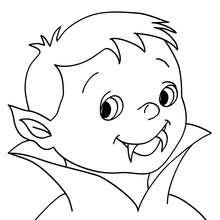 Dibujo de un joven vampiro para colorear - Dibujos para Colorear y Pintar - Dibujos para colorear FIESTAS - Dibujos para colorear HALLOWEEN - Dibujos para colorear VAMPIRO HALLOWEEN