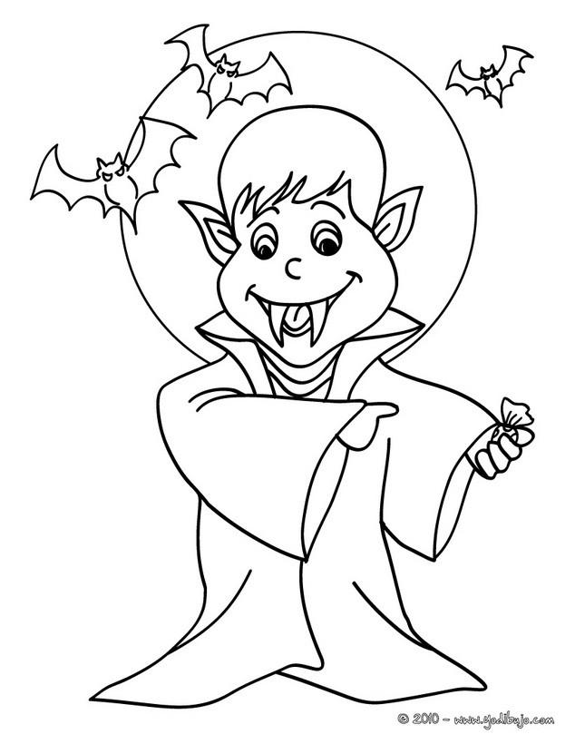 guiño de vampiro Dibujo para colorear vampiro de noche , Dibujos para  Colorear y Pintar , Dibujos para colorear