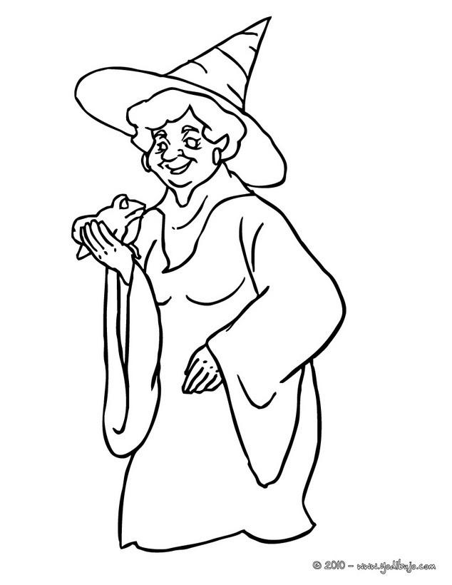 Worksheet. Dibujos de Brujas para colorear  71 brujas de Halloween para pintar