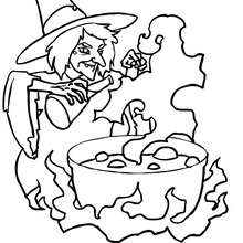 Dibujo para colorear : Bebedizo venenoso