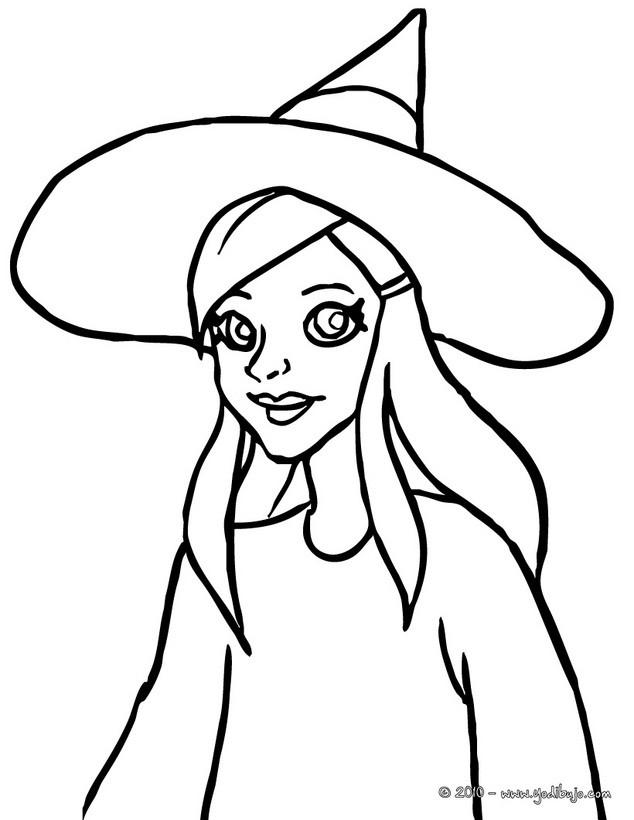 Dibujos para colorear bruja encantada - es.hellokids.com
