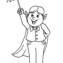 Dibujo disfraz vampiro para colroar halloween - Dibujos para Colorear y Pintar - Dibujos para colorear FIESTAS - Dibujos para colorear HALLOWEEN - Dibujos para colorear DISFRACES HALLOWEEN NIÑOS