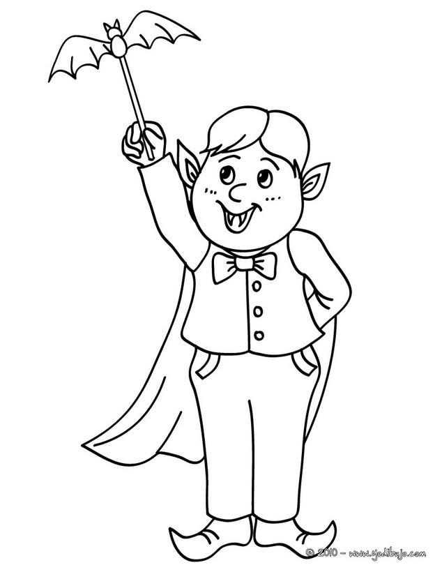 Dibujos para colorear disfraces halloween para niños - es.hellokids.com