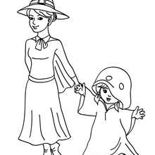 Dibujo para colorear : disfraz fantasma  halloween