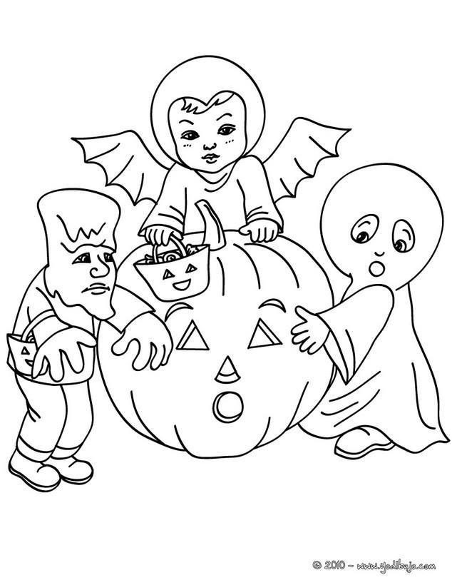 Dibujos para colorear disfraces halloween para nios  es