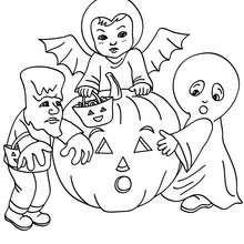 Dibujo para colorear disfraces halloween para niños - Dibujos para Colorear y Pintar - Dibujos para colorear FIESTAS - Dibujos para colorear HALLOWEEN - Dibujos para colorear DISFRACES HALLOWEEN NIÑOS