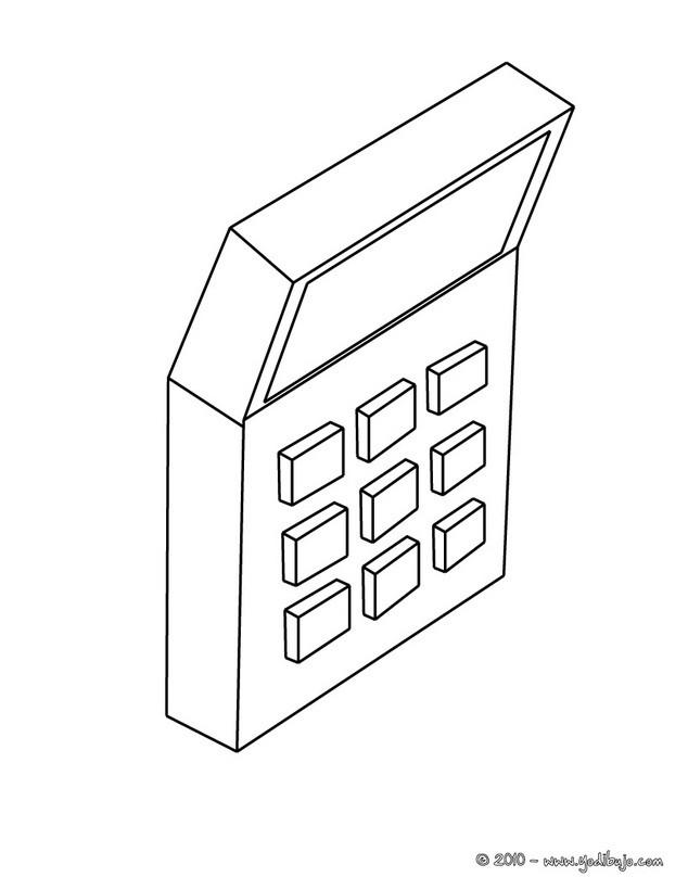 Dibujos Para Colorear Una Calculadora Es Hellokids Com
