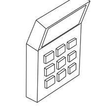 Dibujo para colorear una calculadora - Dibujos para Colorear y Pintar - Dibujos para colorear de la ESCUELA - Dibujos para colorear MATERIAL ESCOLAR