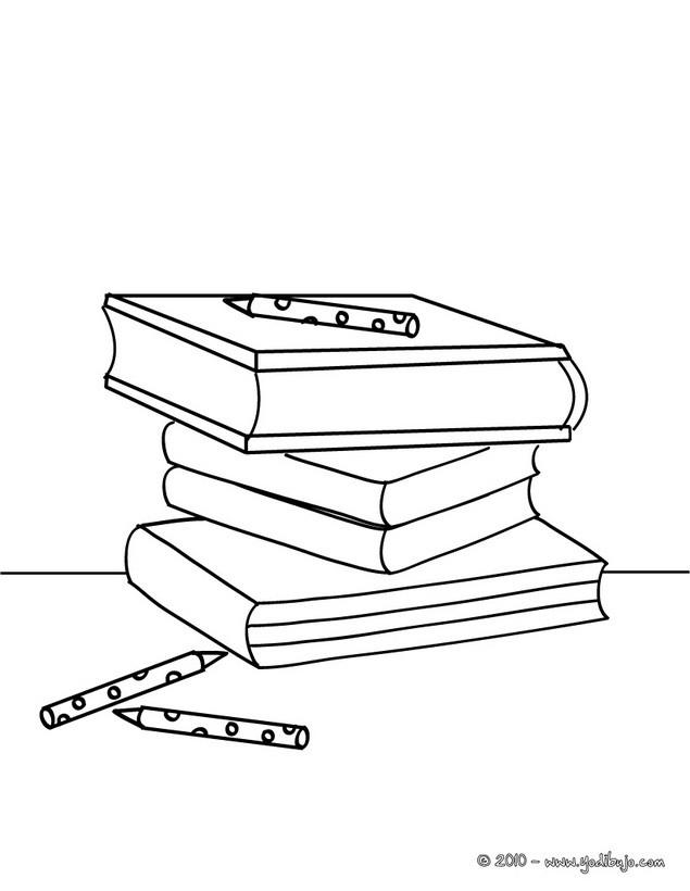 ... colorear libros de la escuela - Dibujos para colorear MATERIAL ESCOLAR