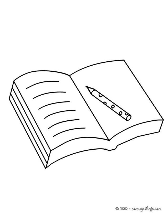 Dibujos Para Colorear Escolar Lapices Y Borrador Es
