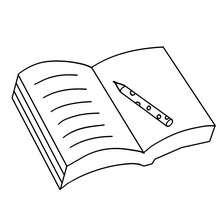 Dibujo para colorear un cuaderno - Dibujos para Colorear y Pintar - Dibujos para colorear de la ESCUELA - Dibujos para colorear MATERIAL ESCOLAR