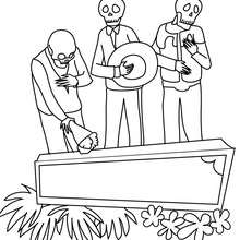 Dibujo del dia de los muertos para colorear - Dibujos para Colorear y Pintar - Dibujos para colorear FIESTAS - Dibujos para colorear DIA DE MUERTOS