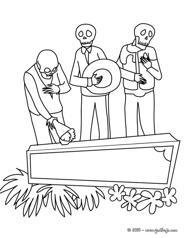 Dibujo para colorear : dia de los muertos