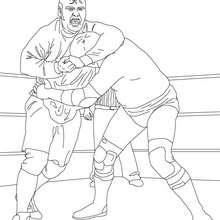 Dibujo de combate de lucha libre para colorear - Dibujos para Colorear y Pintar - Dibujos para colorear DEPORTES - Dibujos de LUCHA LIBRE para colorear - Dibujos para colorear SMACKDOWN