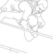 Dibujo para colorear : pelea de lucha libre