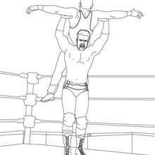 Dibujo para colorear : luchadores