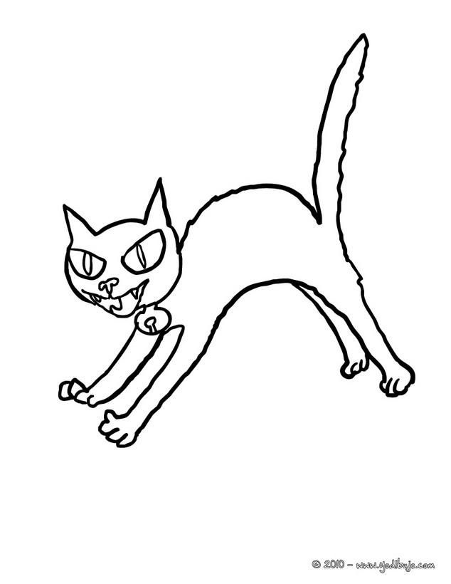 Dibujos de Gato Negro para colorear, un gato negro halloween para ...