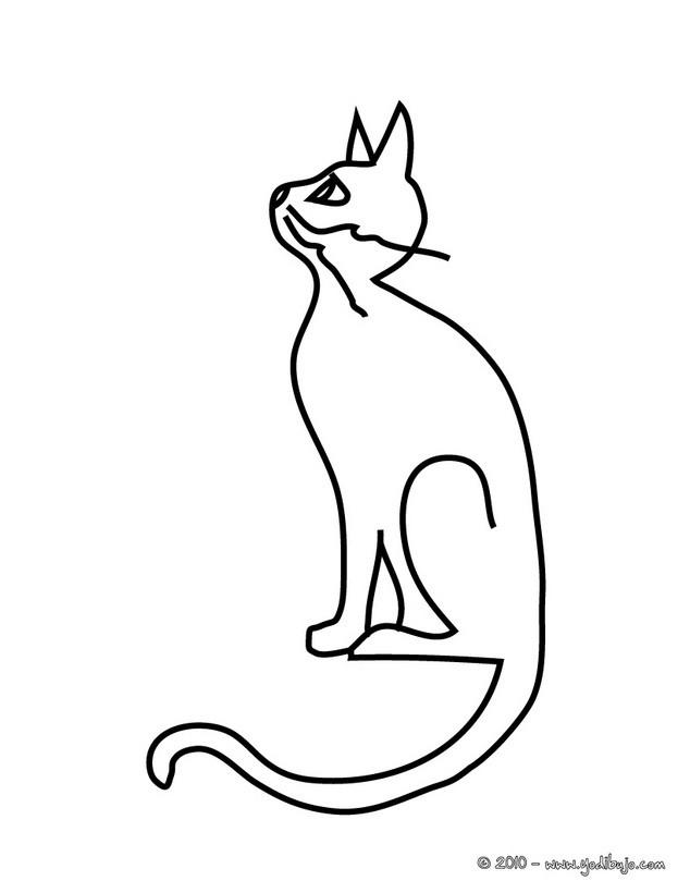 Dibujos para colorear gato negro encantado - es.hellokids.com