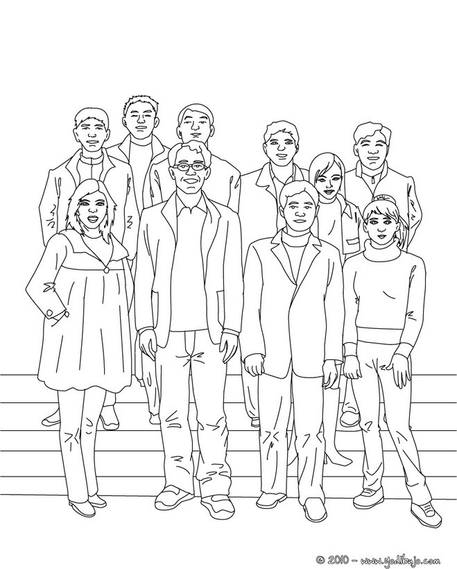 dibujos para colorear foto del curso del cole