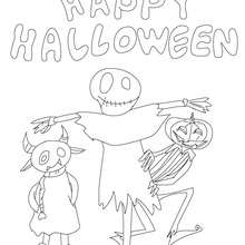 cartel monstruo  Happy halloween