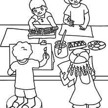 Dibujo para colorear clase de dibujo - Dibujos para Colorear y Pintar - Dibujos para colorear de la ESCUELA - Dibujos para colorear CLASES