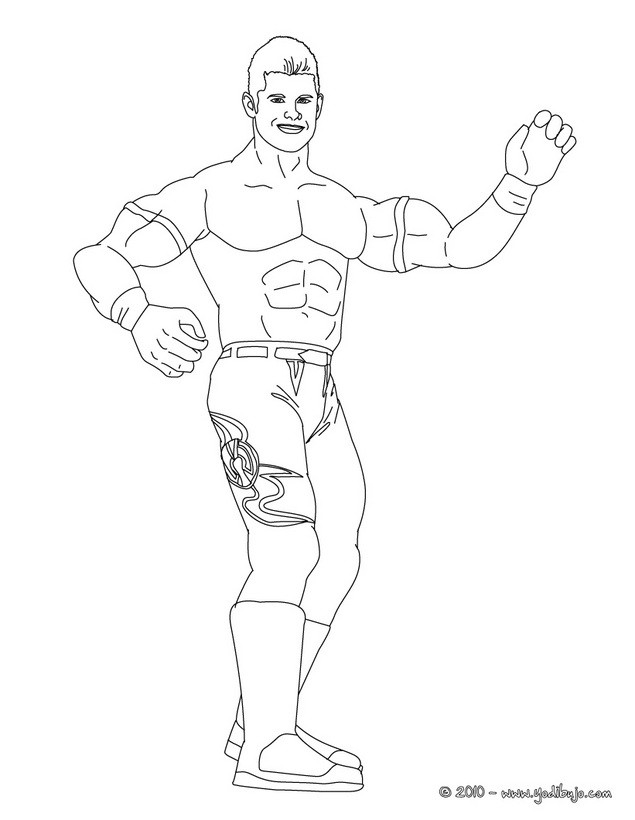 Dibujos para colorear luchador john cena - es.hellokids.com