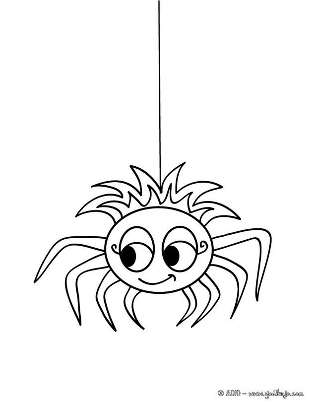 Dibujos para colorear una araa chistosa halloween  eshellokidscom