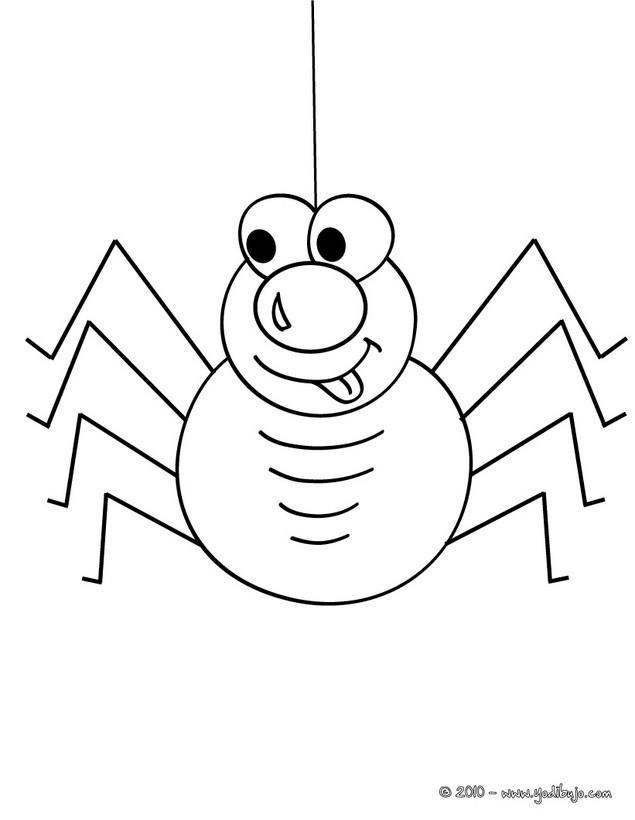 para colorear una araña chistosa para halloween Dibujo de una araña ...