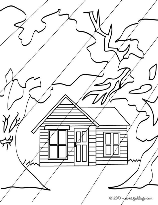 Dibujos para colorear una casa encantada grande - es.hellokids.com