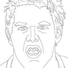 Dibujo para colorear Jack Swagger - Dibujos para Colorear y Pintar - Dibujos para colorear DEPORTES - Dibujos de LUCHA LIBRE para colorear - Dibujos para colorear JACK SWAGGER