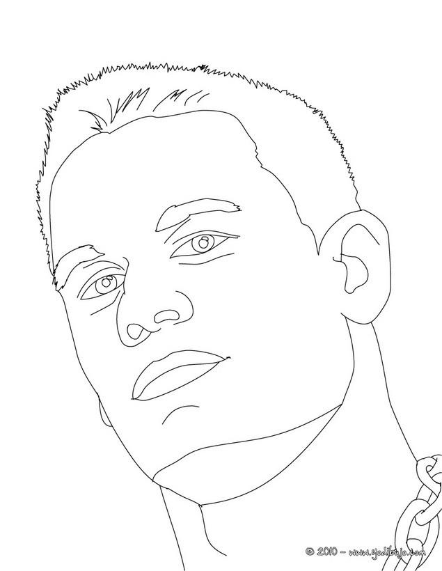 Dibujos para colorear retrato john cena - es.hellokids.com