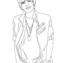 Dibujo para colorear : Justin Bieber