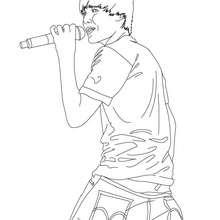 Dibujo para colorear Justin bieber en concierto - Dibujos para Colorear y Pintar - Dibujos para colorear FAMOSOS - JUSTIN BIEBER para colorear
