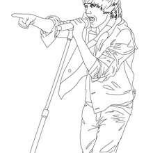 Dibujo para colorear : Justin Bieber cantando