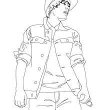 Dibujo para colorear : concierto de Justin Bieber
