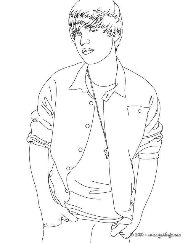 Dibujos para colorear el guapo justin bieber - es.hellokids.com
