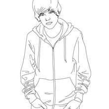 Dibujo para colorear : para las fans de Justin Bieber