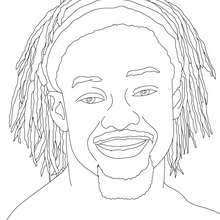 Dibujo para colorear : El Luchador Kofi Kingston