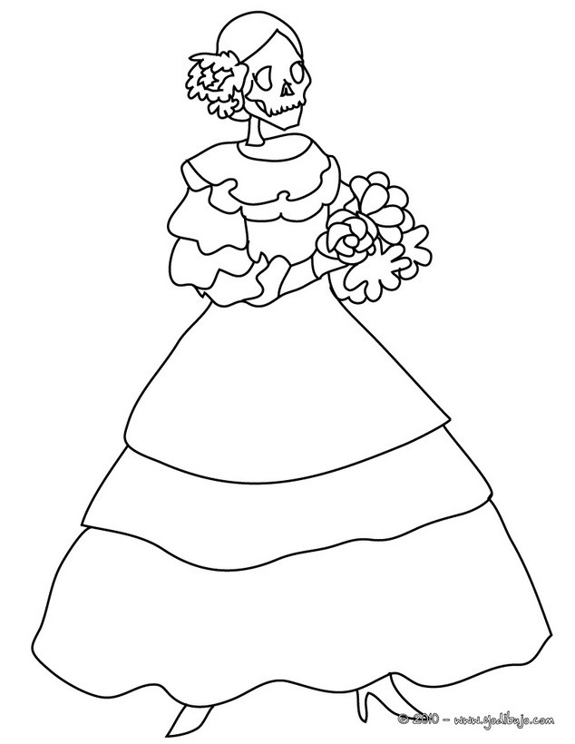 calavera catrina coloring pages - photo#13