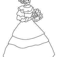 Dibujo de la catrina para colorear el dia de los muertos - Dibujos para Colorear y Pintar - Dibujos para colorear FIESTAS - Dibujos para colorear DIA DE MUERTOS