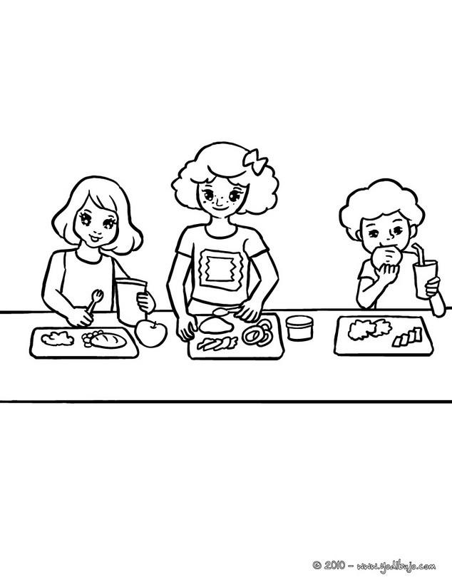 de la comida para colorear - Dibujos VUELTA AL COLE para colorear ...