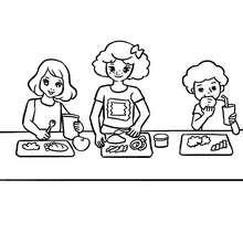 Dibujo de la comida para colorear - Dibujos para Colorear y Pintar - Dibujos para colorear de la ESCUELA - Dibujos VUELTA AL COLE para colorear gratis