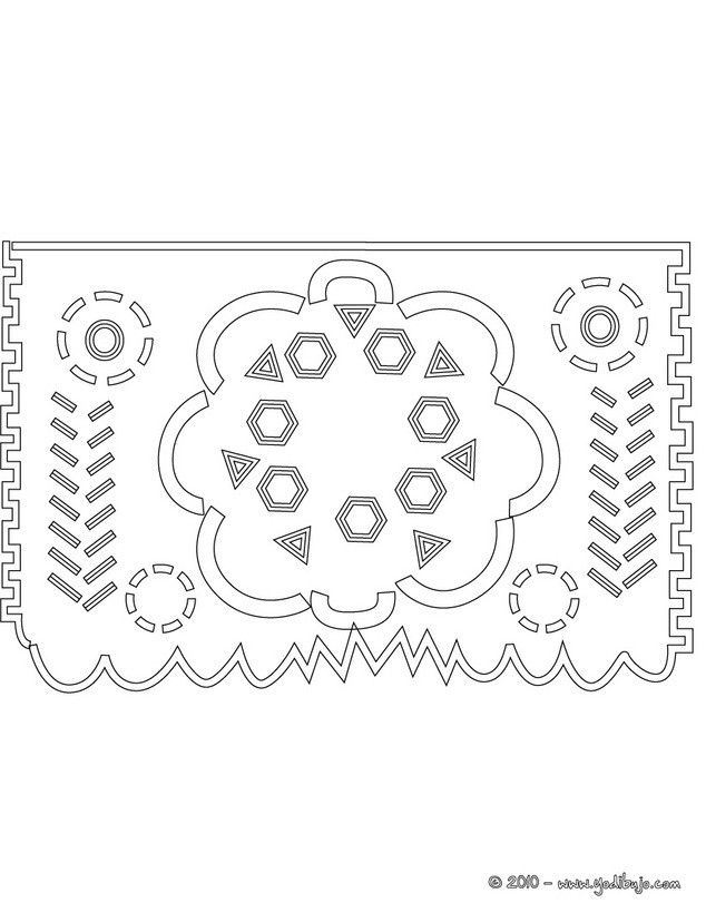 pin papel picado template on pinterest. Black Bedroom Furniture Sets. Home Design Ideas