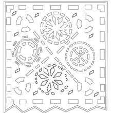 Dibujo para colorear : papel picado  dia de los muertos
